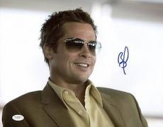 Brad Pitt Ocean's Eleven Signed 11x14 Photo Autographed Jsa #e14145