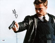Brad Pitt Se7en Signed 11x14 Photo Autographed Psa/dna #w79742