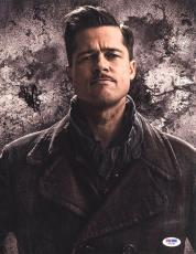 Brad Pitt SIGNED 11x14 Photo Lt. Raine Inglourious Basterds PSA/DNA AUTOGRAPHED