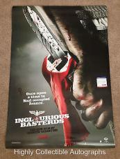 Brad Pitt Signed 27x40 Original Movie Poster Inglourious Basterds Psa Dna Coa