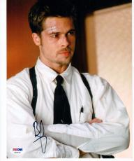 Brad Pitt signed 8x10 photo Detective Mills Seven PSA/DNA autograph