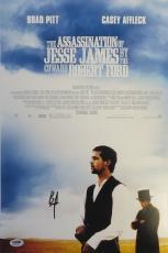 Brad Pitt Signed Assassination of Jesse James 12x18 Movie Poster PSA/DNA