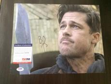 Brad Pitt Signed Auto 11x14 Photo Hollywood Superstar PSA/DNA Money Ball