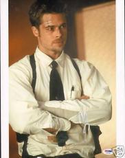 Brad Pitt Signed Auto'd Seven 11x14 Photo PSA/DNA COA