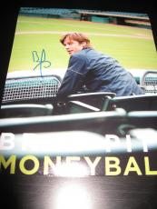 BRAD PITT SIGNED AUTOGRAPH 8x10 PHOTO MONEYBALL IN PERSON COA AUTO RARE NY D