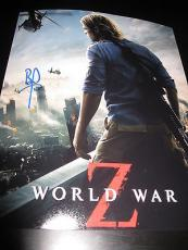 BRAD PITT SIGNED AUTOGRAPH 8x10 PHOTO WORLD WAR Z PROMO IN PERSON COA AUTO NY D