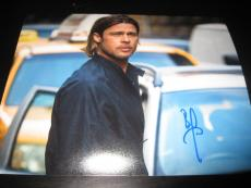 BRAD PITT SIGNED AUTOGRAPH 8x10 PHOTO WORLD WAR Z PROMO IN PERSON COA AUTO NY H