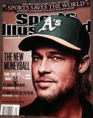 BRAD PITT SIGNED AUTOGRAPH MONEYBALL SPORTS ILLUSTRATED COVER 11x14 PHOTO COA