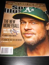 Brad Pitt Signed Autograph Sports Illustrated In Person Coa Auto Rare Moneyball