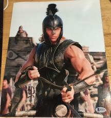 "Brad Pitt Signed Autograph ""troy"" Rare Ripped Arms Hot Stud 11x14 Photo Bas Coa"
