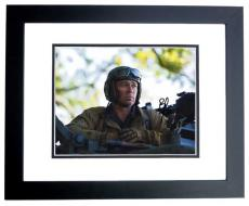 Brad Pitt Signed - Autographed FURY 8x10 Photo BLACK CUSTOM FRAME
