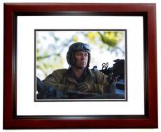 Brad Pitt Signed - Autographed FURY 8x10 Photo MAHOGANY CUSTOM FRAME