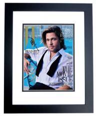 Brad Pitt Signed - Autographed Sexy 8x10 Photo BLACK CUSTOM FRAME