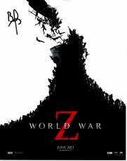 Brad Pitt Signed - Autographed World War Z 11x14 Photo