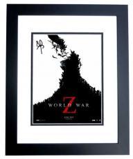 Brad Pitt Signed - Autographed World War Z 11x14 Photo - BLACK CUSTOM FRAME