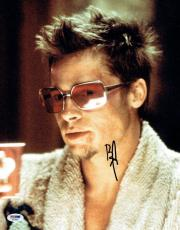 Brad Pitt Signed Fight Club Authentic Autographed 11x14 Photo PSA/DNA #AA31603