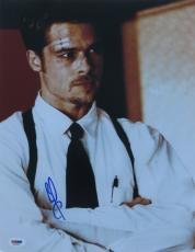 Brad Pitt Signed Fight Club Authentic Autographed 11x14 Photo (PSA/DNA) #J03391