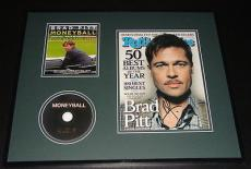 Brad Pitt Signed Framed 16x20 Rolling Stone & Moneyball DVD Display JSA
