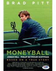 Brad Pitt Signed Moneyball Authentic Autographed 8x10 Photo PSA/DNA #AA78391