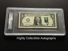 Brad Pitt Signed One Dollar Bill Psa Dna Encapsulated Currency Autograph