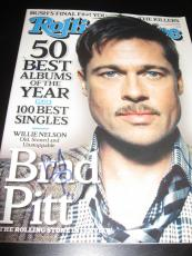 Brad Pitt Signed Rolling Stone Magazine In Person Sexy Hunk World War Z Coa Ny B