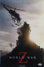 Brad Pitt Signed World War Z Autographed 12x18 Movie Poster PSA/DNA #AA21551