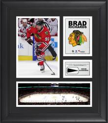 """Brad Richards Chicago Blackhawks Framed 15"""" x 17"""" Collage with Piece of Game-Used Puck"""