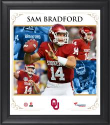 "Sam Bradford Oklahoma Sooners Framed 15"" x 17"" Core Composite Photograph"
