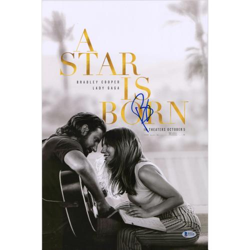 """Bradley Cooper A Star Is Born Autographed 12"""" x 18"""" Movie Poster - PSA"""
