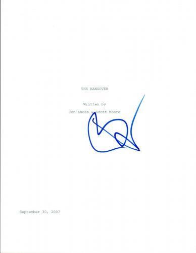 Bradley Cooper Signed Autograph THE HANGOVER Full Movie Script COA VD