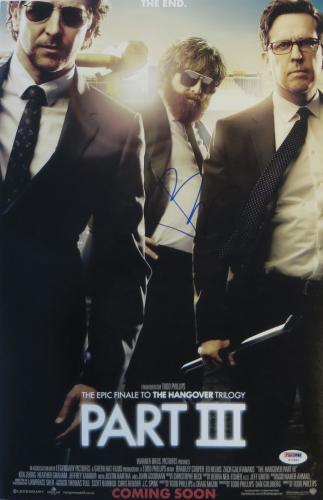 Bradley Cooper Signed Hangover Part III Autographed 12x18 Poster PSA/DNA #Y77897