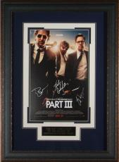 The Hangover III Cast Signed 11x17 Poster Framed