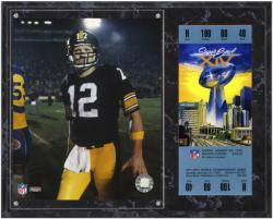 Pittsburgh Steelers Super Bowl XIV Terry Bradshaw Plaque with Replica Ticket - Mounted Memories