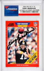 Terry Bradshaw Pittsburgh Steelers Autographed 1989 Pro Set #12 Card - Mounted Memories