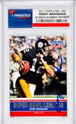 Terry Bradshaw Pittsburgh Steelers Autographed 2011 Topps Super Bowl XIII Card - Mounted Memories