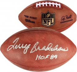 Terry Bradshaw Pittsburgh Steelers Autographed Wilson Pro Football - Mounted Memories