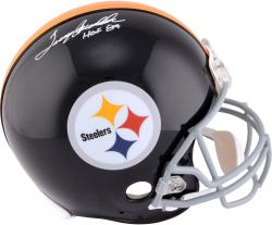 Terry Bradshaw Pittsburgh Steelers Autographed Riddell Pro-Line Authentic Helmet with HOF 89 Inscription - Mounted Memories