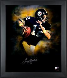 Terry Bradshaw Pittsburgh Steelers Framed Autographed 20'' x 24'' In Focus Photograph-#2-11 of Limited Edition of 12