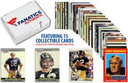 Terry Bradshaw Pittsburgh Steelers Collectible Lot of 15 NFL Trading Cards - Mounted Memories