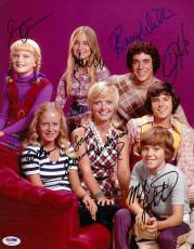 Brady Bunch Cast Signed Authentic Autographed 11x14 Photo 7 Sigs PSA/DNA#AB13717
