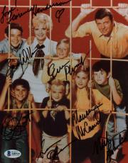 Brady Bunch Cast Signed Autographed 8x10 Photo Henderson Olsen Plumb Beckett BAS