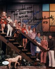 BRADY BUNCH HAND SIGNED 8x10 COLOR PHOTO+COA      SIGNED BY 5       AWESOME+RARE