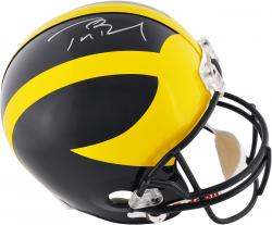 Tom Brady Michigan Wolverines Autographed Riddell Replica Helmet - Mounted Memories