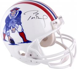 Tom Brady New England Patriots Autographed Riddell Pro Line Authentic Throwback Helmet - Mounted Memories