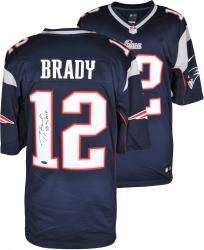 Tom Brady New England Patriots Autographed ProLine Navy Jersey with SB 36 MVP Inscription