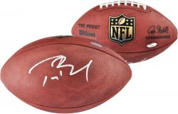 Tom Brady New England Patriots Autographed Wilson Pro Football - Mounted Memories