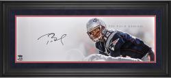 Tom Brady New England Patriots Framed Autographed 10'' x 30'' Field General Photograph-Limited Edition of 12 - Mounted Memories