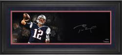 Tom Brady New England Patriots Framed Autographed 10'' x 30'' Film Strip Photograph-Limited Edition of 12 - Mounted Memories
