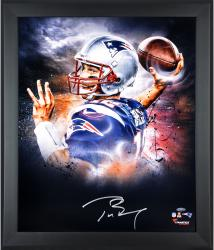 Tom Brady New England Patriots Framed Autographed 20'' x 24'' In Focus Photograph - Mounted Memories
