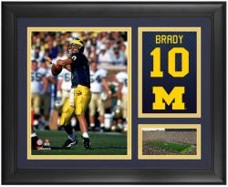Tom Brady Michigan Wolverines Framed Campus Legend 15'' x 17'' Collage - Mounted Memories